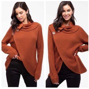 TORONTO-Tulip Hem Waffle Knit Sweater